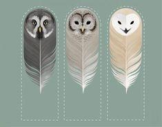 Marcadores de Páginas de Corujas Anniversaire Harry Potter, Owl Art, Happy Mail, Bookmarks, Iris, Creative, Crafts, Printables, Paper