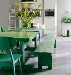 Een landelijk interieur mét kleur!   groen - Makeover.nl