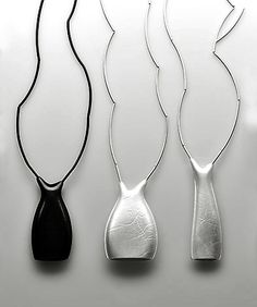 Necklaces by Leslie Matthews - Silver and blackened silver