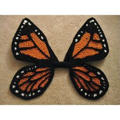 crochet pattern for monarch butterfly wings for baby, for a costume or a photo prop
