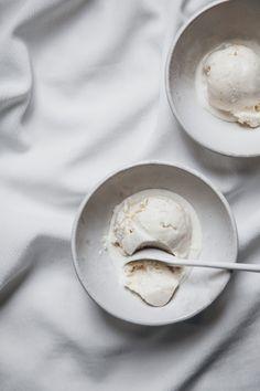 Lemon crème fraiche ice cream