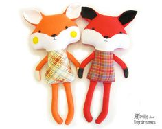 Fox Sewing Pattern - Adorable woodland stuffed toy by Dolls And Daydreams