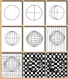 optical art step by step - Google Search