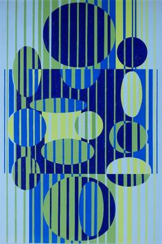 Victor VASARELY (1906-1997) Kacay, 1964 Oil on canvas, signed lower middle, countersigned, dated, titled and numbered 3518 on the reverse 42.1 x 28.7 in. - 107 x 73 cm.  Provenance: Vente Calais, Maître Pillon, 1989 Private European collection Estimate: 90,000 - 100,000 U$