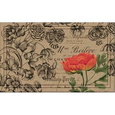 Shop Wayfair for BuyMATS Inc. Naturelles Vintage Floral Peony Doormat - Great Deals on all Furniture products with the best selection to choose from!