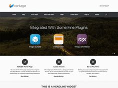 Vantage WordPress Themes Free Download - Vantage is a flexible multipurpose theme. It's strength lies in its tight integration with some powerful plugins like Page Builder for responsive page layouts,