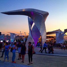 Tramonto su Piazza Italia a #Expo2015. Sunset over Piazza Italia in #Expo2015. Repost: @janna.boldyreva