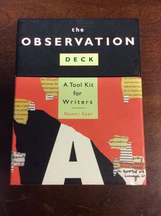 Observation Deck A Tool Kit for Writers Naomi Epel Book&Flashcards Inspirational