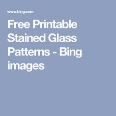 Free Printable Stained Glass Patterns - Bing images