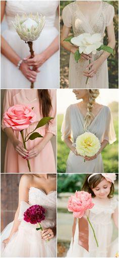 bridal bouquet inspiration | alternative bouquet ideas | v/ boho-weddings.com |