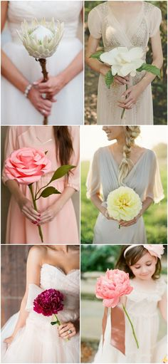 bridal bouquet inspiration | alternative bouquet ideas | v/ boho-weddings.com |