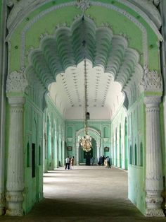 mint green and white interior. Lucknow, India