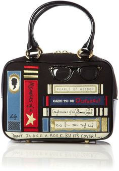 Lulu Guinness Jenny Library Books Bowling Bag in Multicolor (multi-coloured) | Lyst