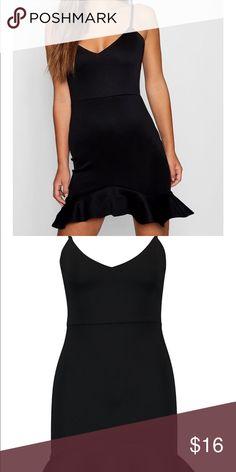 1db3b39a48b Black Frill Mini dress BNWT! Best fits small Boohoo Dresses Mini