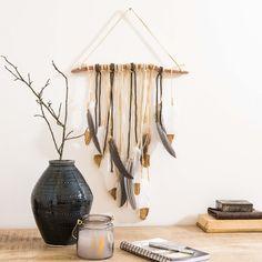 Wanddeko Zweig mit Federn H60 | Maisons du Monde