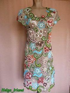 Irish crochet &: Ольга Наумова. Платье Айседора.