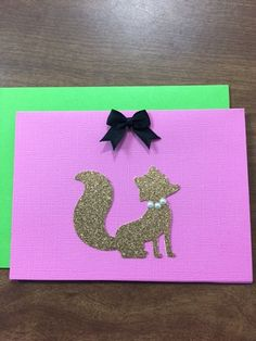 Cute Vixen Note Cards for Sweet Briar College
