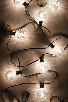 Mercury Glass Bulb Lights - anthropologie.com #anthrofave
