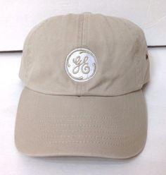 GE GENERAL ELECTRIC BALL CAP Khaki Relaxed-Fit Dad Hat Adjustable Men/Women #GeneralElectric #BaseballCap