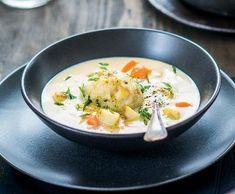 Husí kaldoun s bylinkovými knedlíčky Soup, Ethnic Recipes, Soups