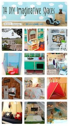 14 DIY Imaginative Spaces | curated by 'Mission Decorate' blog!