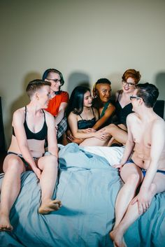 Lingerie line promotes LGBTQ by holding a photo shoot. Good way to show that the media often forgets to include everyone in their ads. Gender binary 0 - Bluestockings Boutique 1.