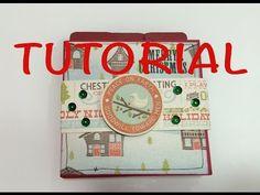 DIY tutorial mini album navidad manualidad facil y barata idea para regalar - YouTube