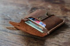 Treasure Chest Credit Card Wallet Leather Wallets by JooJoobs