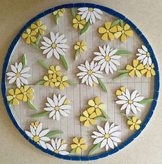 Felicity Ball mosaics: The making of a mosaic bistro table – Mosaic Mosaic Tray, Mosaic Tile Art, Mosaic Artwork, Mosaic Crafts, Mosaic Projects, Mosaic Mirrors, Marble Mosaic, Mosaic Flower Pots, Mosaic Pots