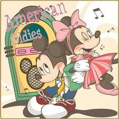 50s Minnie and Mickey. How precious ^-^