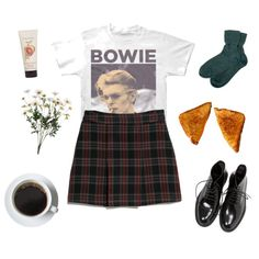 Bowie by greerveronica on Polyvore featuring polyvore fashion style MANGO Brora Yves Saint Laurent Crabtree & Evelyn