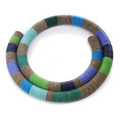 Necklace. Collezione Laguna. Paper jewels by Creazioni Zuri.