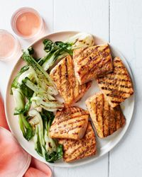 Grilled salmon recipes recipes include grilled salmon with melted tomatoes and honey-mustard-glazed grilled salmon steak. Plus more grilled salmon recipes. Salmon Steak Recipes, Fish Recipes, Seafood Recipes, Salmon Food, Salmon Marinade, Salmon Tacos, Grilling Recipes, Cooking Recipes, Healthy Recipes