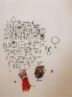 Caucasian, Negro, 1987, Jean-Michel Basquiat