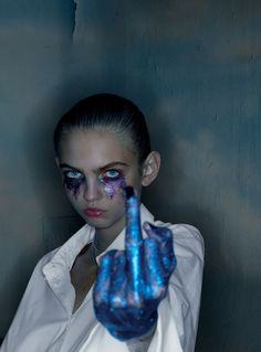 Molly Bair Gets in Your Face for Alyx Spring 2016 by Nick Knight - Alyx Spring 2016-Wmag