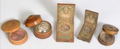 Grouping of 18th and early 19th c. compasses.  google.com