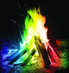 Mystical Campfire - The flames, they rainbow!