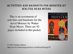 Monster by walter dean racism