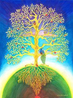 themagicfarawayttree:  The Tree Of Life by Gloria Di Simone