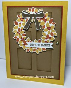 Klompen Stampers (Stampin' Up! Demonstrator Jackie Bolhuis): A Wreath For All Seasons