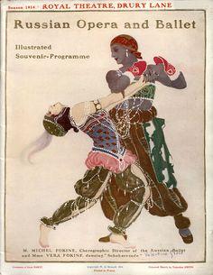 . Scheherazade, 1914, Ballet Russes ProgramIllustration by Valentine Gross, Vera Fokina and Mikhail FokineCostumes: Leon Bakst