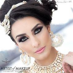 Arab makeup Bridal Makeup, Wedding Makeup, Pretty Hairstyles, Wedding Hairstyles, Artist Makeup, Arabian Makeup, Beauty Zone, Asian Bridal, London