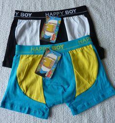 lot de 2 Boxers garçon caleçon lingerie slip enfant taille 4-6 ans neuf
