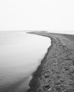 Black and white seascape photograph of the southern tip of Pelee Island, the most southern inhabited piece of land in Canada. Further south than of half of the United States including northern California. Arts And Crafts Storage, Black And White Beach, Ontario Travel, Walking Meditation, Fairy Land, Northern California, Under The Sea, Landscape Photography, Fields