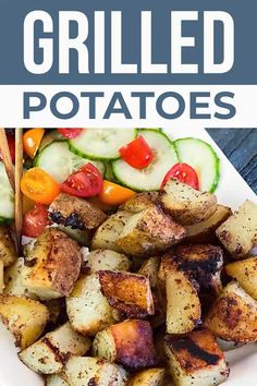 The best Grilled Potatoes recipe you will ever try! Seasoned potatoes grilled until golden-brown and deliciously crispy make the best BBQ side dish. Grilled Side Dishes, Cookout Side Dishes, Dinner Side Dishes, Summer Side Dishes, Best Grilled Potatoes Recipe, Grilled Potato Recipes, Summer Grilling Recipes, Grill Recipes, Grilling Sides
