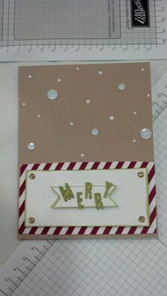 Stampin' Up! demonstrator Donna F's project showing a fun alternate use for the Watercolor Winter Simply Created Card Kit.