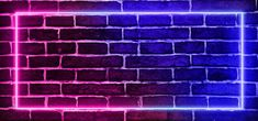 Abstract Modern Neon Frame Background