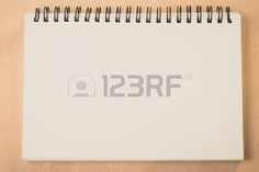 tablero de sueños: blank pages white paper notebook at office Desk , business background, concept for education Foto de archivo