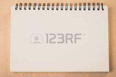 tablero de sueños: blank pages white paper notebook at office Desk , business background, concept for education Foto de archivo