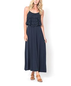 Another great find on #zulily! Caralase CROCHET TIERED MAXI DRESS by Caralase #zulilyfinds